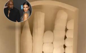 קים קרדשיאן וקניה וסט (צילום: קים וקניה: צילום: JStone / Shutterstock.com, בית: אינסגרם kimkardashian)
