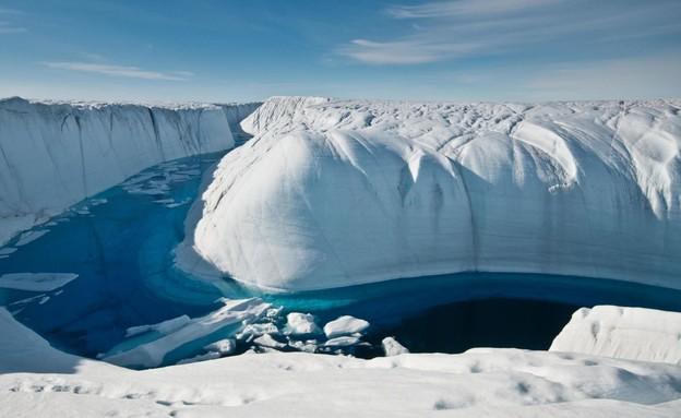 גרינלנד מאבדת קרח (צילום: sky news)