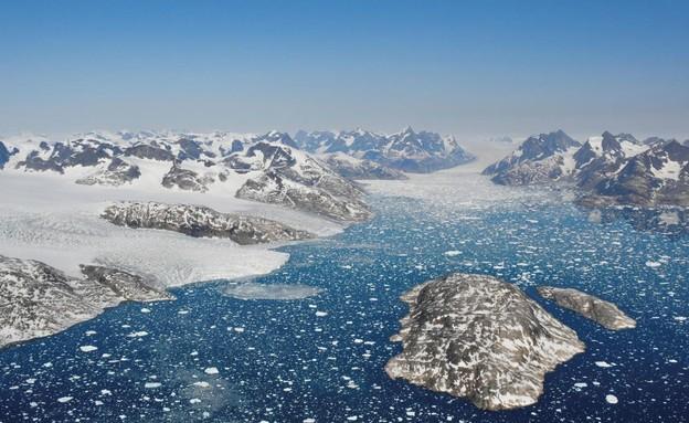 הקרח בגרינלנד נמס  (צילום: sky news)