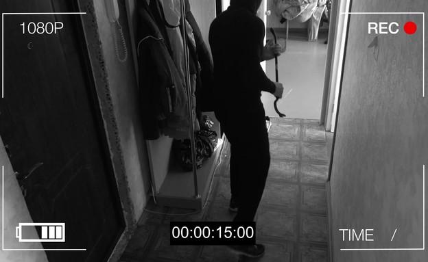 גנב מצלמת אבטחה (אילוסטרציה: 123rf)