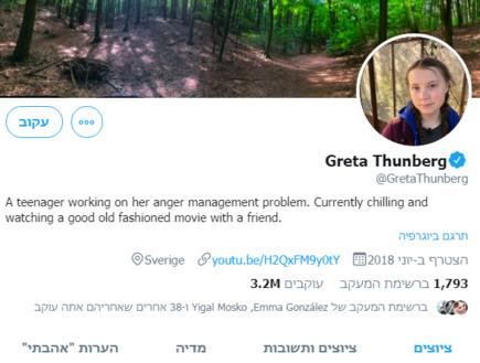 הטוויטר של גרטה תונברג
