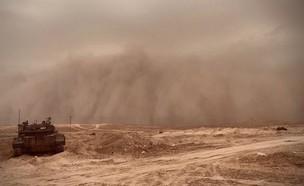 סופת חול בדרום (צילום: דביר מנהיימר)