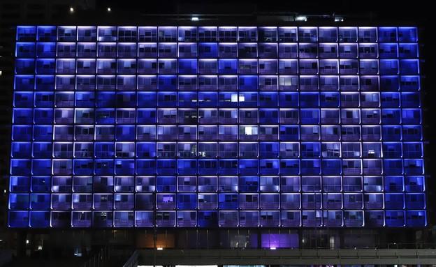 עיריית תל אביב דגל ישראל (צילום: עיריית תל אביב יפו)