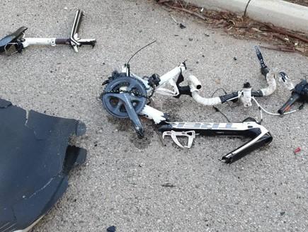 זירת התאונה בשרון