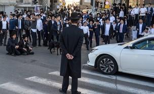 הפגנות חרדים בבני ברק נגד התחבורה הציבורית בשבת (צילום: קובי ריכטר, TPS)
