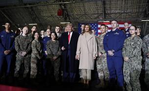 """הנשיא האמריקני בטקס ההשקה של """"כוח החלל"""" (צילום: AP)"""