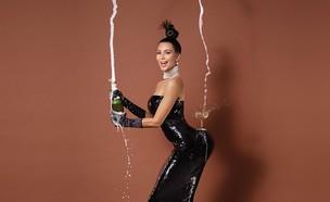התמונה המסעירה של קים קרדשיאן על שער מגזין פייפר (צילום: Jean-Paul Goude, reuters)