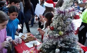 חג המולד בבית ספר בהרצליה (צילום: מתוך עמוד הטוויטר של ינון מגל)