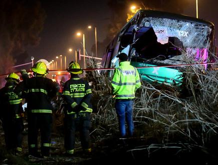 תאונת האוטובוס שנפגע מבטונדה