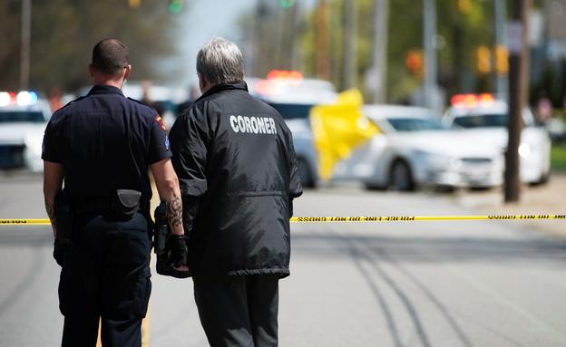 זירת רצח בקליבלנד, ארכיון (צילום: רויטרס)
