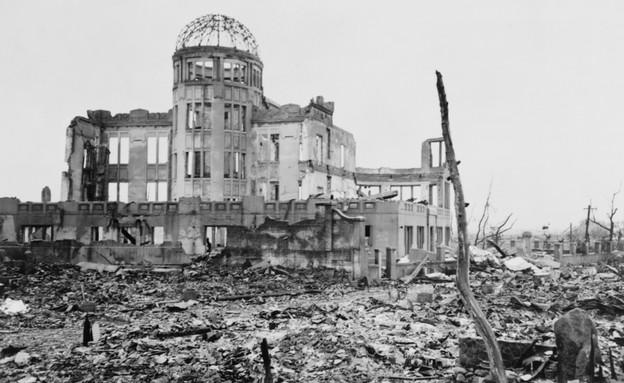 בניין אחרי פצצת אטום (צילום:  Everett Historical   shutterstock)