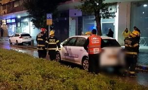 חיפה: הולך רגל פצוע אנוש (צילום: דוברות איחוד הצלה )