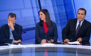 עמית סגל צוחק בשידור (צילום: החדשות 12)