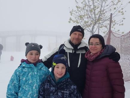 משפחת וקסלמן באתר החרמון