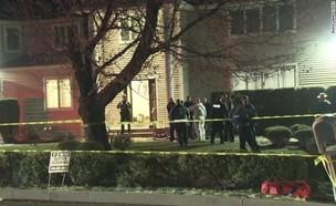 """זירת אירוע הדקירה ליד בית כנסת במונסי, ארה""""ב  (צילום: CNN)"""