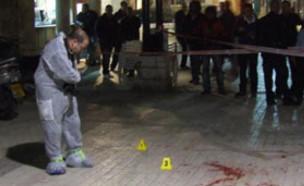 זירת רצח ביפו, ארכיון (צילום: החדשות 12)