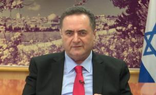 """השר ישראל כ""""ץ (צילום: חדשות 12)"""