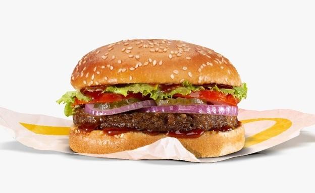 המבורגר מקדונלד'ס (צילום: נמרוד גנישר, יחסי ציבור)
