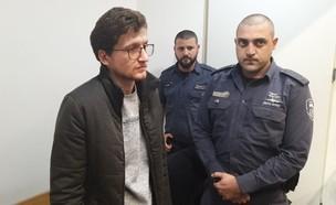 מיכאל ניקולקין המואשם ברצח אחיו (צילום: אור רביד, החדשות 12)