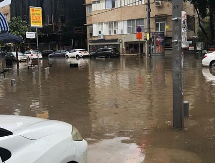 הצפות בתל אביב בעקבות הגשמים