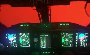 השריפות באוסטרליה מהקוקפיט מטוס (צילום: רויטרס)