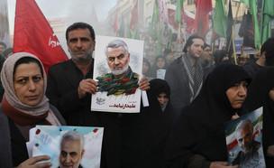 הלווייתו של קאסם סולימאני בטהרן (צילום: AP)