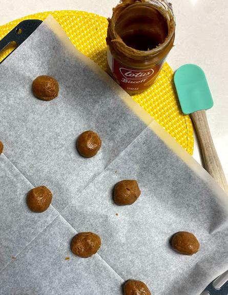 עוגיות ממרח לוטוס בתבנית