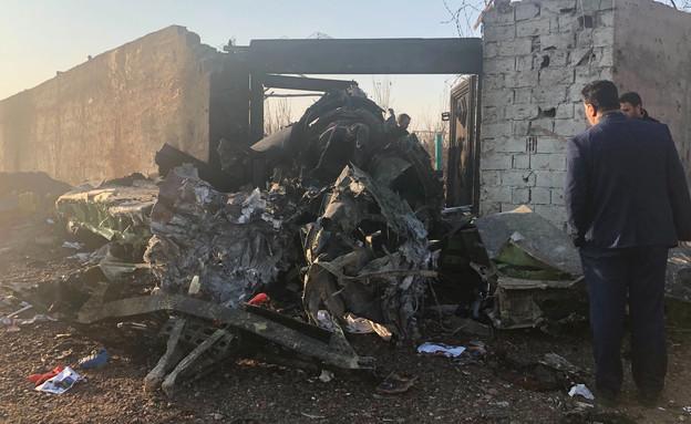 התרסקות מטוס בטהרן (צילום: AP)