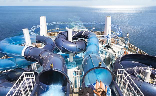 מגלשות מים ענקיות בבליסימה (צילום: MSC)