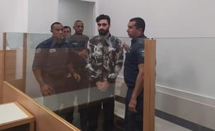 יונתן פדידה בבית המשפט עם הגשת כתב האישום נגדו