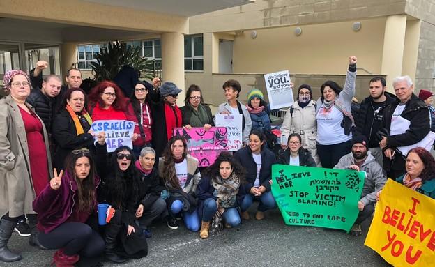 מתוך המחאה בקפריסין (צילום: באדיבות רוחמה וייס)