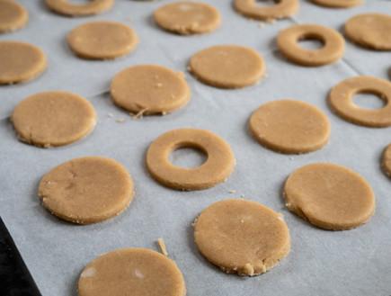 עוגיות טבעוניות לפני אפייה