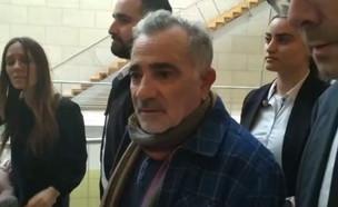 משה איבגי מגיע לבית משפט  (צילום: החדשות 12)