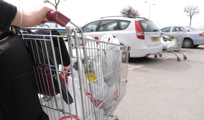 עגלת קניות בסופרמרקט במודיעין (צילום: hafakot, shutterstock)