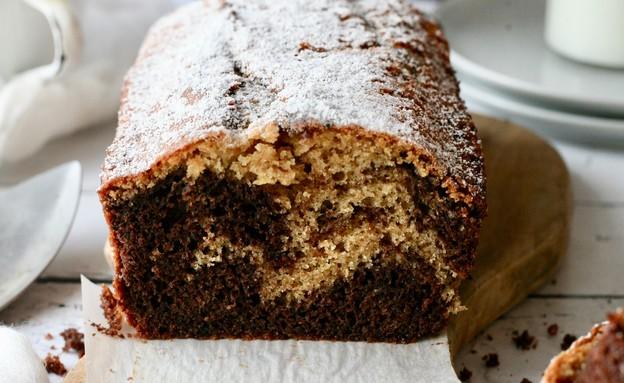 עוגת שיש מקמח כוסמין מלא (צילום: קרן אגם, אוכל טוב)