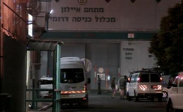 כלא איילון בלילה (צילום: החדשות 12)