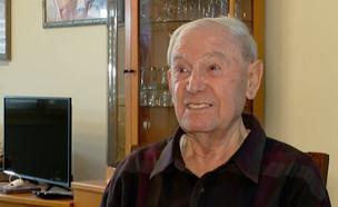 אברהם ויינראוך ניצול שואה בן 84 שנעקץ (צילום: חוסין אל אוברה)