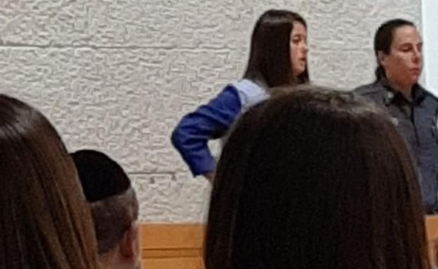 פרסיליה קשתי בבית המשפט, ינואר 2020 (צילום: פול סגל)
