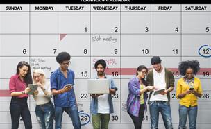 לוח שנה, סטודנטים (צילום: Rawpixel.com, shutterstock)