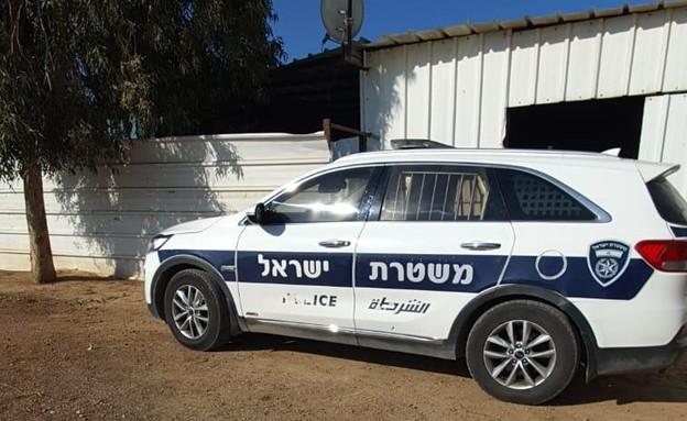 מעצר החשוד ברצח שאדיה אבו סריחאן בנגב (צילום: משטרת ישראל)