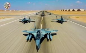 צעדת הפילים של חיל האוויר המצרי (צילום: חיל האוויר המצרי)