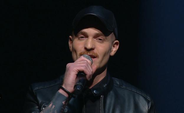 """רביב כנר –  """"Feeling Good"""" (צילום: מתוך: הכוכב הבא לאירוויזיון 2020, קשת 12)"""
