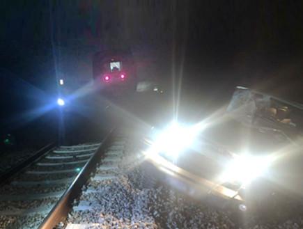 התנגשות רכב צבאי ורכבת ליד דימונה