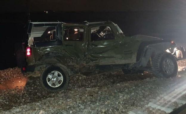 תאונה בין רכב צבאי לרכבת ליד דימונה
