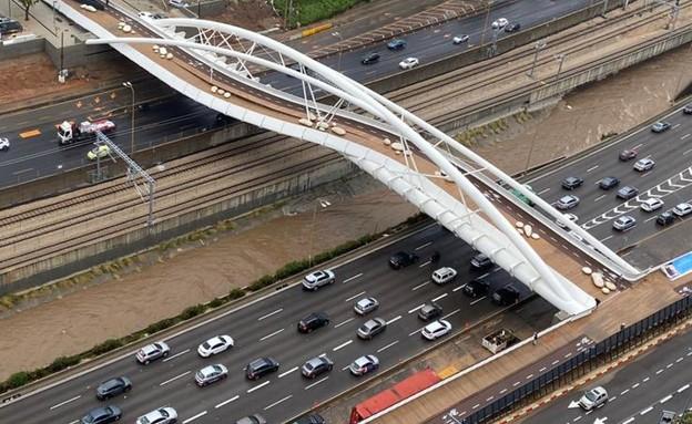 גשר יהודית צפוי להיפתח לציבור  (צילום: עיריית תל אביב)