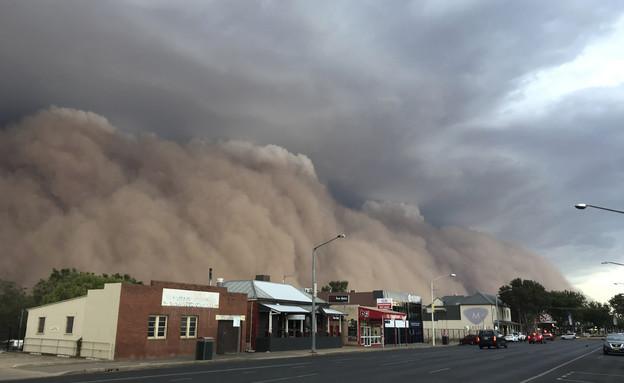 סופת אבק באוסטרליה (צילום: AP)
