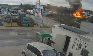 """פיצוץ במוסך בטמרה (צילום: קבוצת בט""""ש וחירום)"""