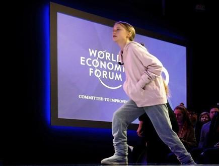 גרטה תונברג בוועידת הכלכלה בדאבוס