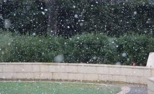 שלג ביישוב בית אל שבהרי בנימין (צילום: אריה מינקוב, TPS)