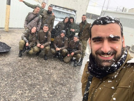 חיילי וקציני מת״ק בית לחם נהנים מהשלג